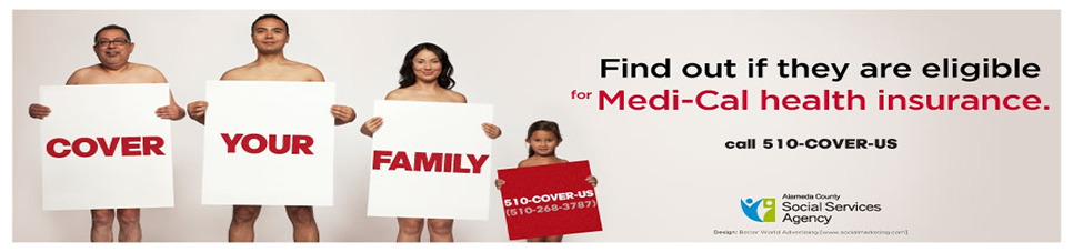 Picture of naked people holding up signs saying cover your family.
